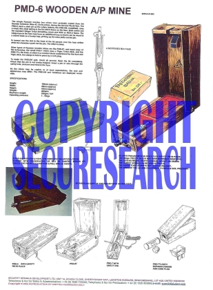 Security Poster: PMD-6 Wooden A/P Mine